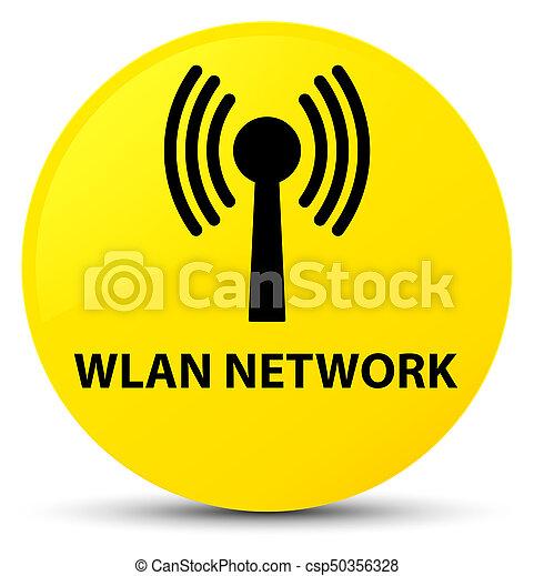 Wlan network yellow round button - csp50356328