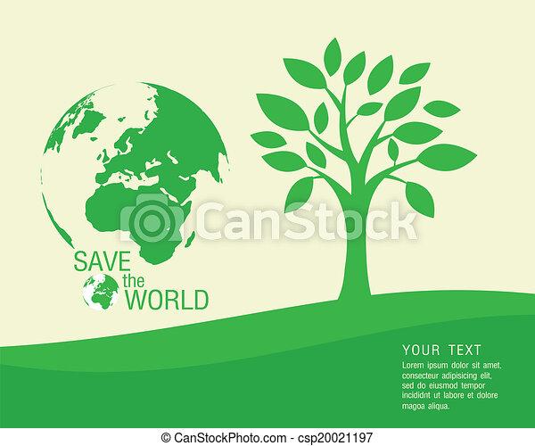 wo, salvar, ecológico, vetorial, - - csp20021197