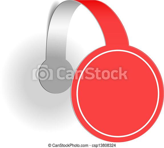 wobbler, reklama, czerwony - csp13808324