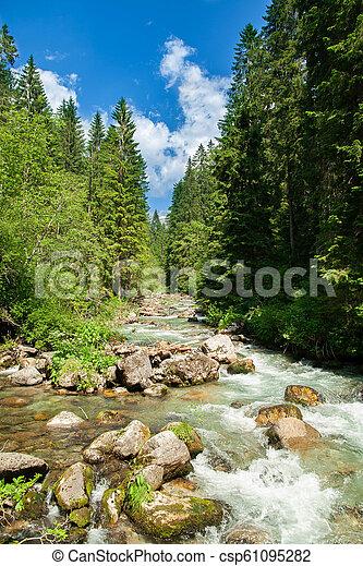 woda, góry, krajobraz, fałdzisty - csp61095282