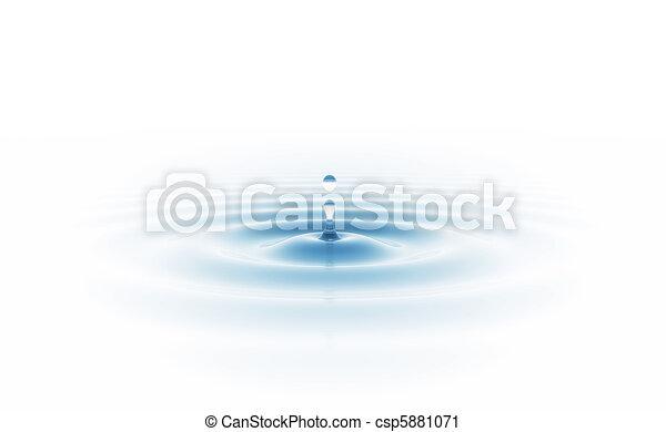 woda kapią, odizolowany, biały - csp5881071