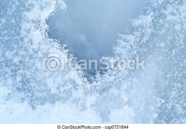 woda, szczelnie-do góry, ice-bound, powierzchnia - csp0731844