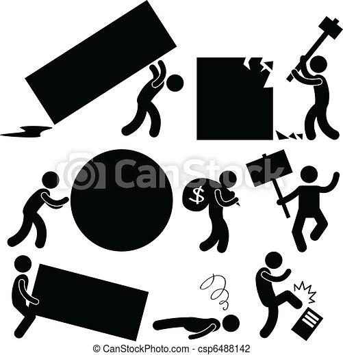 woede, werken, zakelijk, last, mensen - csp6488142