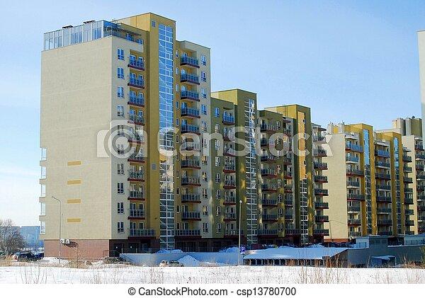 wohnhaeuser, block, perkunkiemis - csp13780700