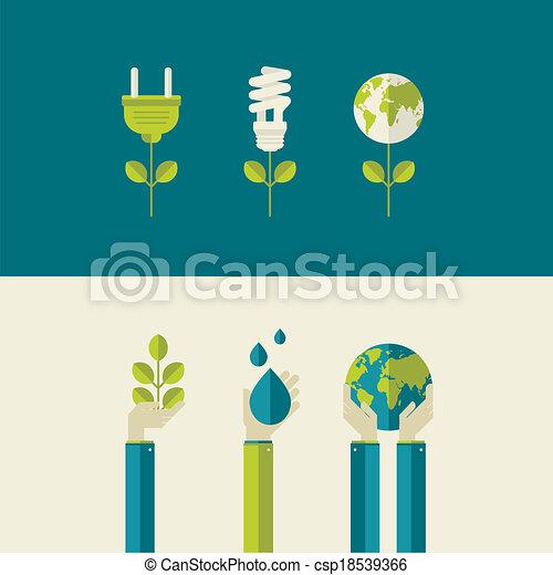 wohnung, ökologie, design, begriffe - csp18539366