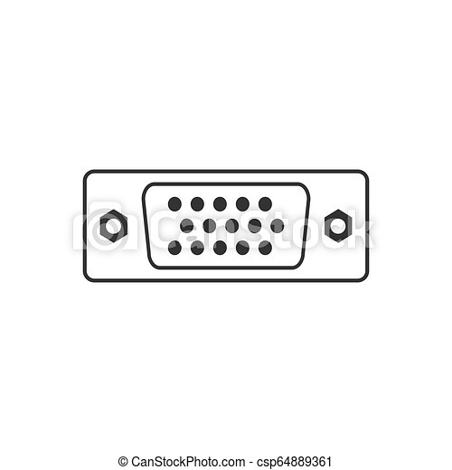 wohnung, abbildung, vga, vektor, icon., hafen, design. - csp64889361