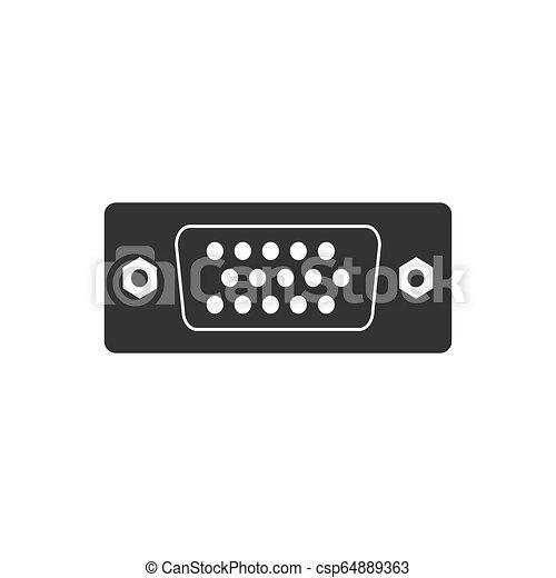 wohnung, abbildung, vga, vektor, icon., hafen, design. - csp64889363