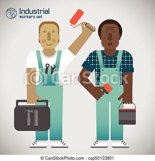 Wohnung, Arbeiter, Industrie, Stil   Csp50133801