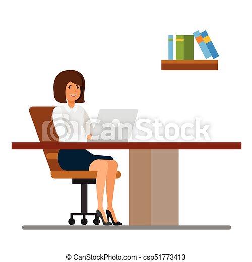 Wohnung Begriff Arbeits Büro Freigestellt Abbildung Vektor
