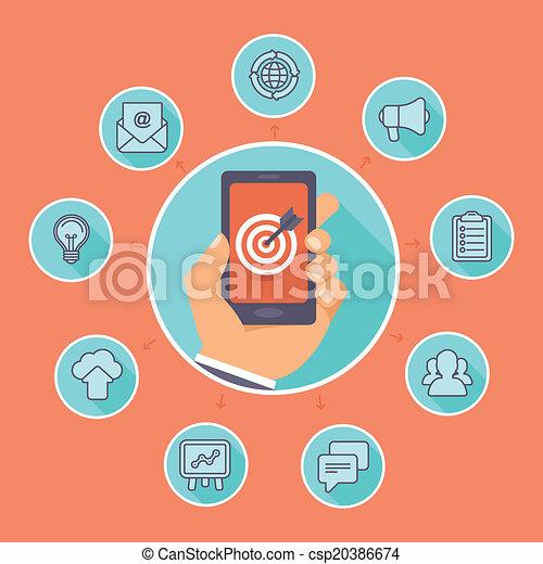 wohnung, begriff, marketing, -, vektor, internet - csp20386674