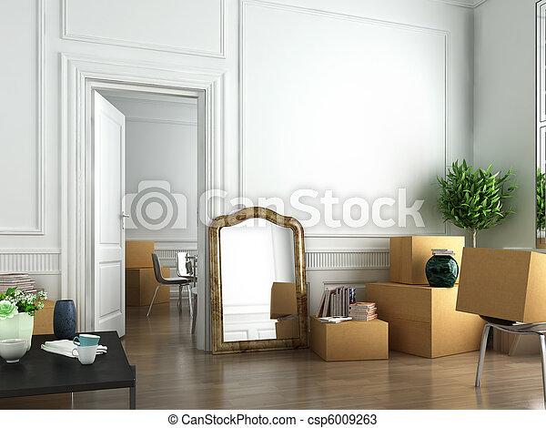 Wir ziehen in eine neue Wohnung - csp6009263