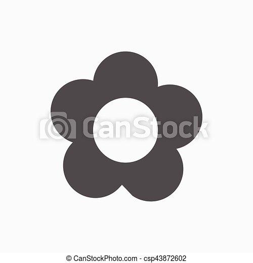 Blumen Icon Aktien Vektorgrafik flaches Design - csp43872602
