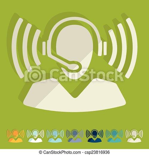 Flat Design: Call Center - csp23816936