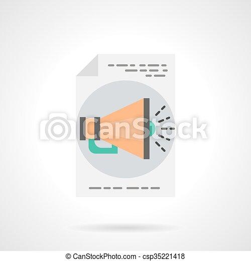 Wohnung, farbe, vektor, anzeige, online, ikone. Vektor, web ...