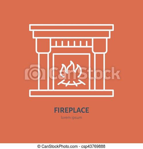 Wohnung, feuerhaus, gegenstand, equipment., heizelement, zeichen ...