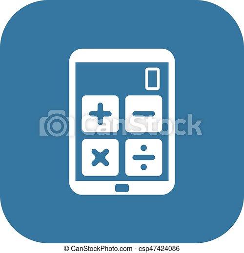 Wohnung Geschaeftswelt Taschenrechner Einkommen Icon Design