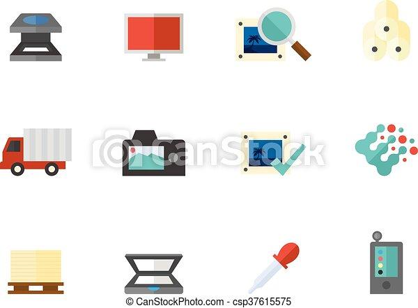 Wohnung, grafik, heiligenbilder, farbe, -, druck, design ...