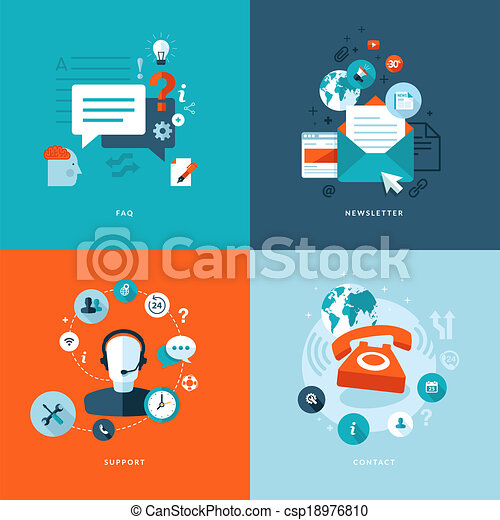 Flat Icons für Web-Kommunikation - csp18976810