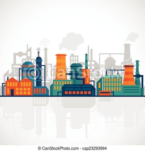 wohnung, industriebereiche, hintergrund - csp23293994