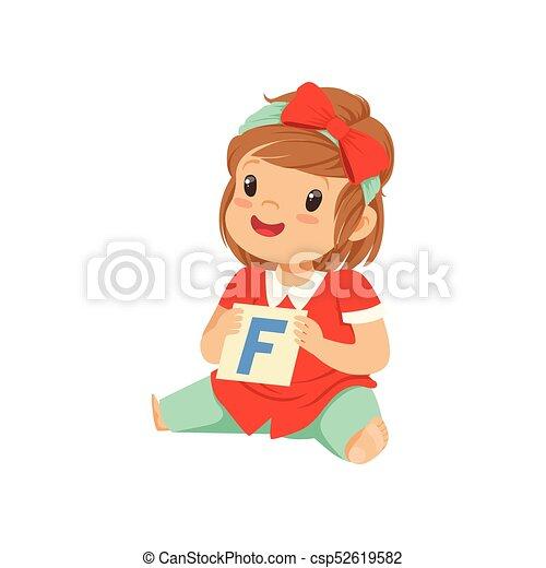wohnung, lernen, exercise., f, character., spiel, vortrag halten , brief, kind, baby, therapie, m�dchen, spielende , card. - csp52619582