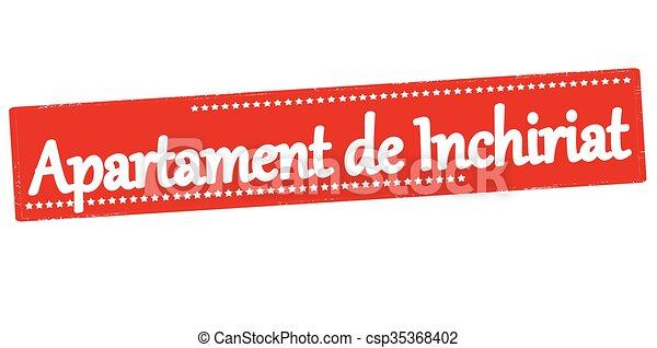 Wohnung Miete Wohnung Sprache Briefmarke Text Abbildung