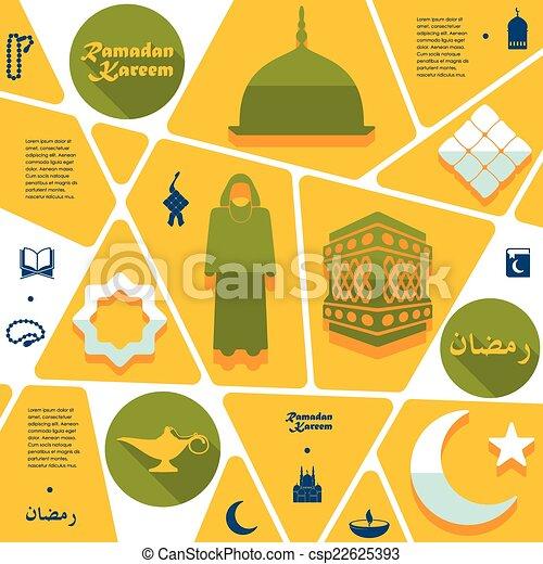 Flat infographic: Ramadan Kareem - csp22625393