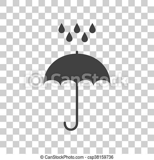 Wohnung, Schirm, Graue , Symbol., Regen, Style., Wasser,