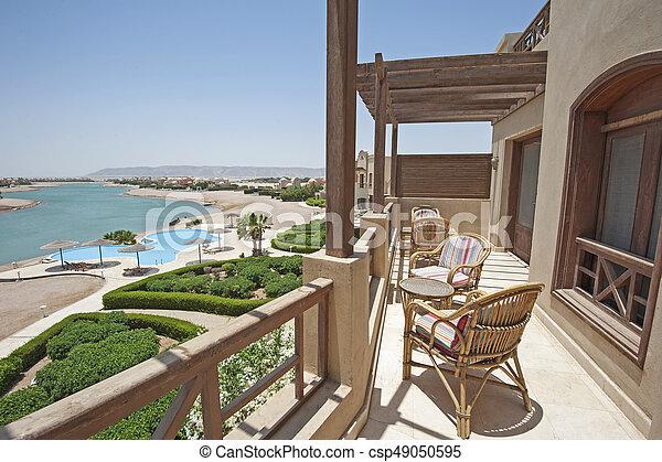 Wohnung Stuhle Tropische Terrasse Luxus Balkon Landhaus
