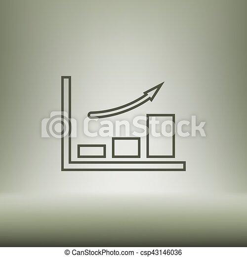 Wohnung, stil, schnitt, diagramm, papier, ikone. Wohnung, stil ...