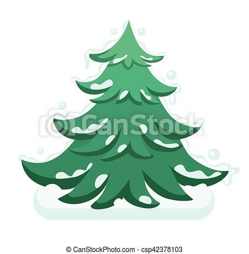 Bild Tannenbaum.Wohnung Tannenbaum Abbildung Vektor Fröhlich Jahr Neu Weihnachten