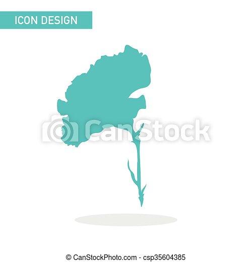 Blumen-Flach-Icon-Vektordesign - csp35604385
