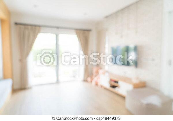 wohnzimmer, abstrakt, dekoration, verwischen, inneneinrichtung, vorhang