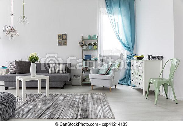 Wohnzimmer Boden Hell Wande Inneneinrichtung Lebensunterhalt