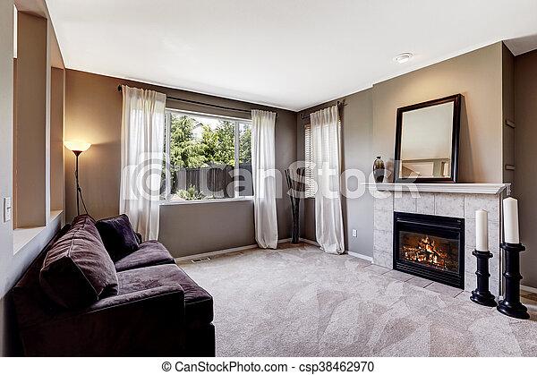 Wohnzimmer Boden Sofa Dunkles Innere Teppich
