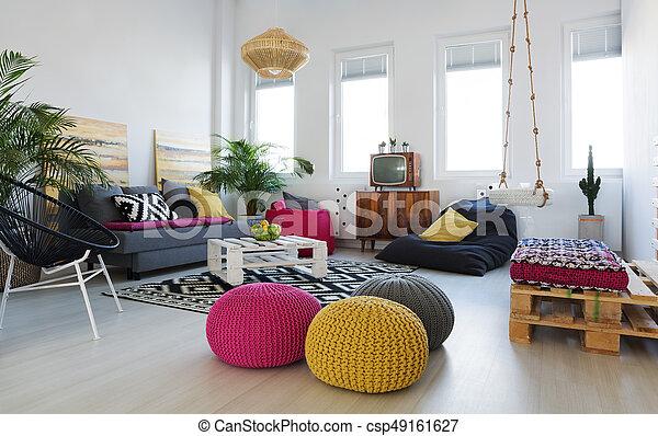 Wohnzimmer, Dachgeschoss   Csp49161627