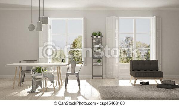 Wohnzimmer Bild Gros ~ Wohnzimmer groß minimalist panorama skandinavisch hintergrund