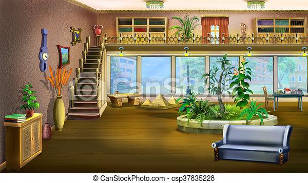 Wohnzimmer, hintergrund. Wohnzimmer, weinlese, design, hintergrund ...