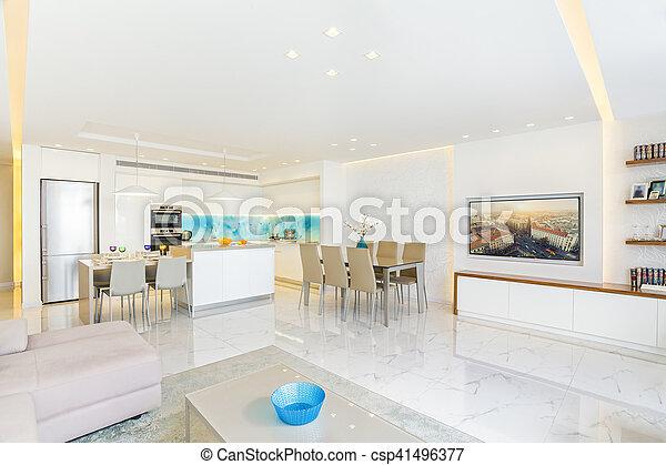 wohnzimmer, modern, design, luxus, inneneinrichtung, kueche