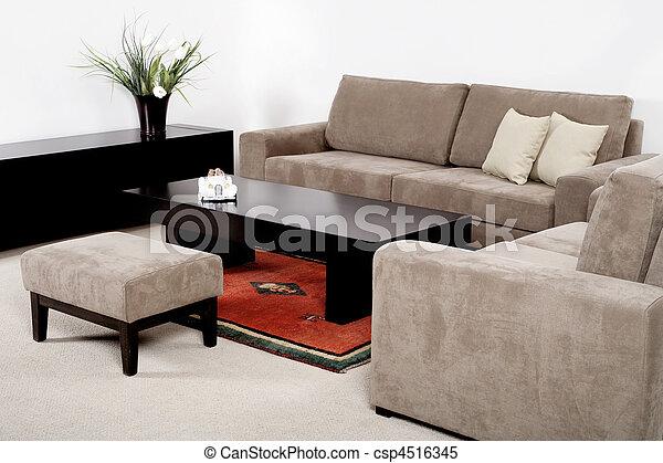 wohnzimmer, moderne möbel