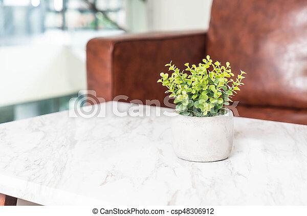 Wohnzimmer Topf Baum Dekoration Tisch