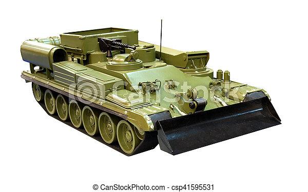 wojskowy, buldożer, opancerzony - csp41595531