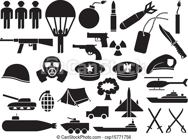 wojskowy, ikony - csp15771756