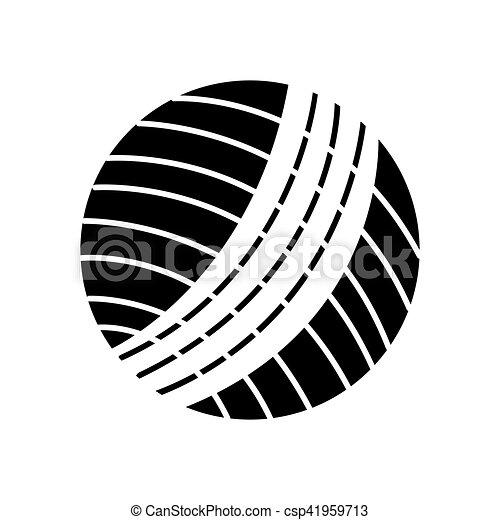 Bola de icono aislado - csp41959713