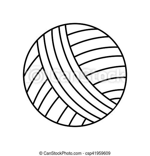 Bola de icono aislado - csp41959609