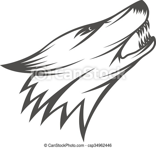 Wolfskopf Illustration - csp34962446