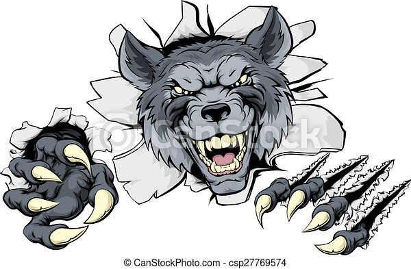 Wolf claws break out - csp27769574