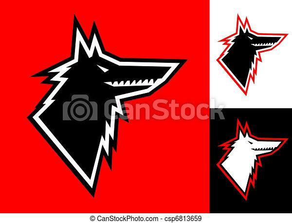 Wolf head icon - csp6813659