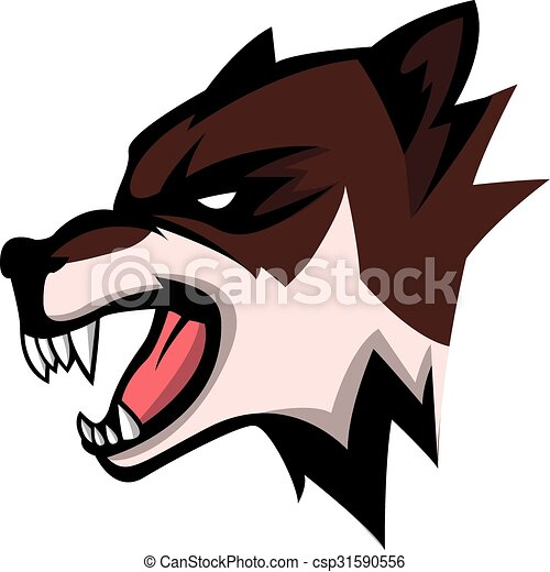 Wolf head illustration design - csp31590556