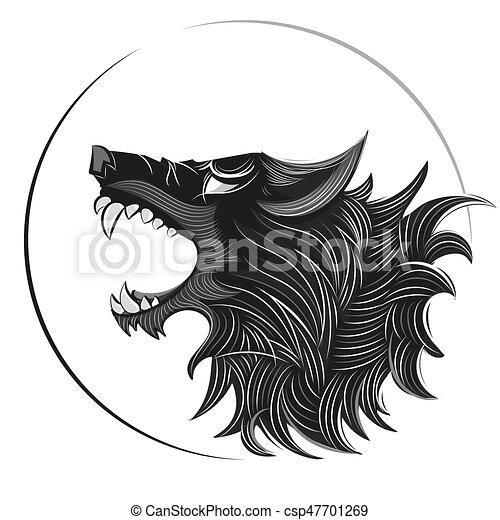 wolf head logo bad wolf logo black and white illustration