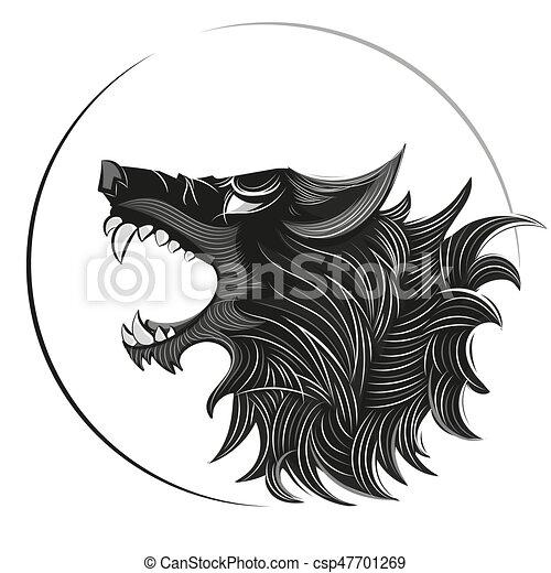 Wolf head logo csp47701269